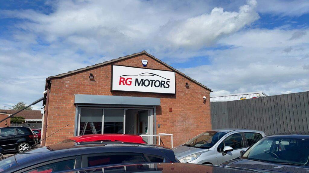 RG Motors Outdoor Sign