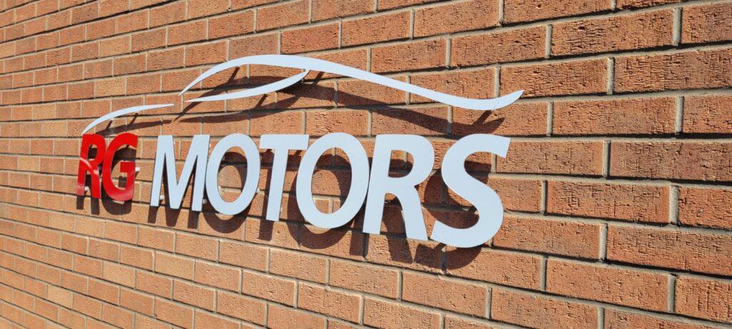 RG Motors Outdoor Sign 2