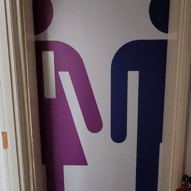 Tension Toilet Door