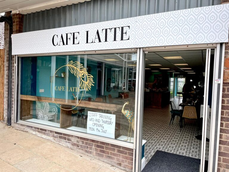 cafe latte shopfront