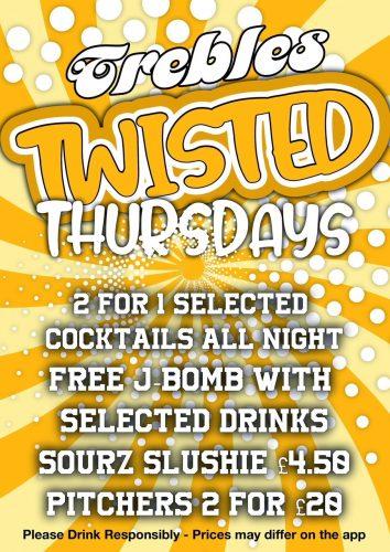 Trebles Thursday Poster