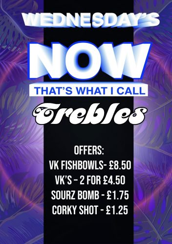 Trebles Wednesday poster